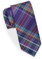 Black Brown 1826 Tartan Plaid Silk Tie