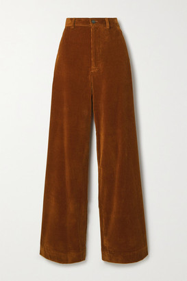 Vanessa Bruno Polo Cotton-blend Corduroy Wide-leg Pants - Camel