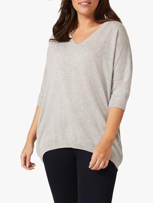 Studio 8 Elisha V-Neck Knitted Top, Grey
