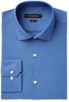 Andrew Marc Men's Slim-Fit Motion-Ease Collar Wrinkle-Free Diamond Print Dress Shirt