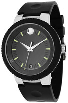 Movado 606928 Men's Sport Edge Black Rubber Watch