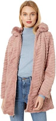INTL d.e.t.a.i.l.s Women's Cozy Faux Fur Hooded Jacket