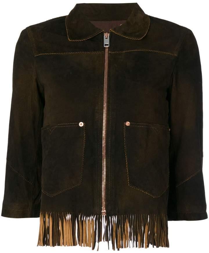Diesel fringed crop sleeve jacket