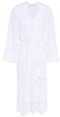 Miguelina Belted Cotton Macrame Cover-up