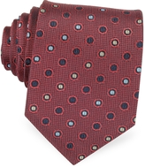 Forzieri Multicolor Dots Woven Pure Silk Men's tie