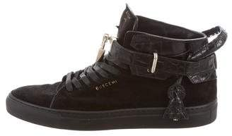 Buscemi 90MM Alligator-Trimmed Sneakers