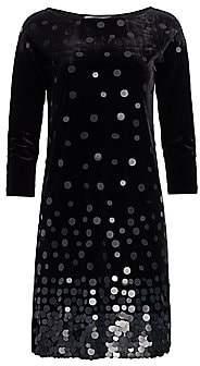 Joan Vass Women's Velvet Sequin Dress