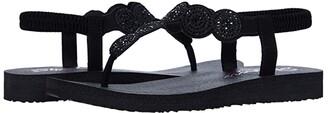 Skechers Meditation - Stars Sparkle (Black/Black) Women's Shoes