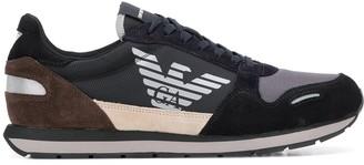 Emporio Armani logo panelled sneakers