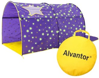 Bed Tent Canopy Dream Kids Play Playhouse Privacy Twin Starlight Purple by Alvantor