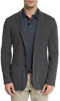 Michael Kors Double-Knit Two-Button Blazer