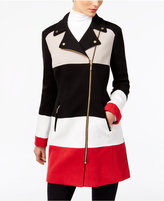 INC International Concepts Colorblocked Moto Jacket, Only at Macy's