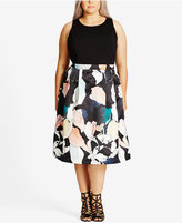 City Chic Trendy Plus Size Printed A-Line Dress