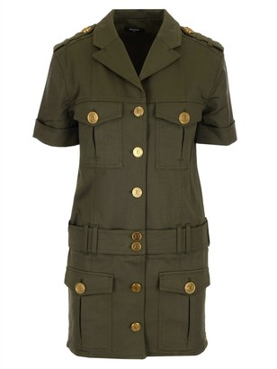 Balmain Military Style Dress