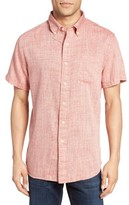 Grayers Men's Moby Trim Fit Print Summer Twill Sport Shirt