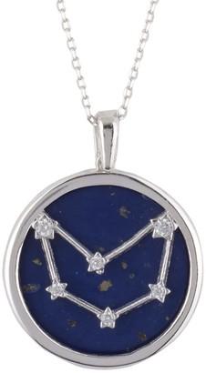 Latelita Zodiac Lapis Lazuli Gemstone Star Constellation Pendant Necklace Silver Capricorn