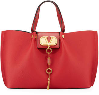 Valentino Garavani Go Logo Escape Medium Leather Tote Bag