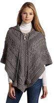 D.E.P.T Denim Department Women's Heavy Knit Poncho Sweater