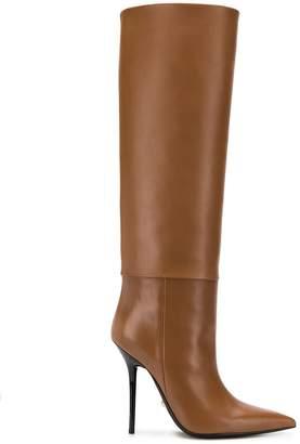 Versace knee-high stiletto boots