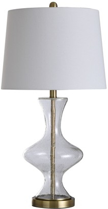 Stylecraft Style Craft Clear Textured Table Lamp