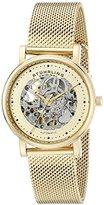 Stuhrling Original Women's 832L3 Castorra Automatic Self-Wind Gold-Tone Stainless Steel Watch