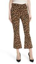 Frame Women's Cheetah Print Velvet Crop Flare Pants