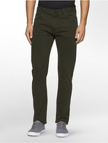 Calvin Klein Slim Straight Sateen Pants