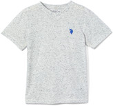 U.S. Polo Assn. Boys' Tee Shirts GREY - Gray Logo V-Neck Tee - Boys