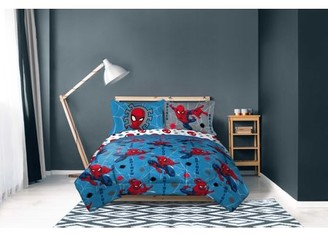 The Amazing Spiderman Spiderman Blue Spidey Kids Bed-in-a-Bag Bedding Set w/ Reversible Comforter