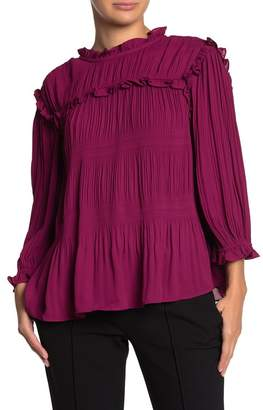 Ted Baker Airlie Pleated Ruffled Blouse