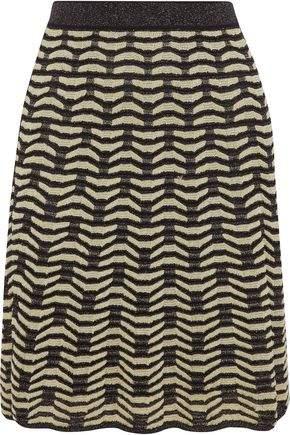 M Missoni Metallic Crochet-Knit Skirt