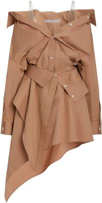 Alexander Wang Asymmetric Cotton Deconstructed Mini Shirt Dress