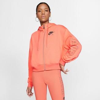 Nike Cotton Mix Zip Up Logo Hoodie