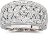 JCPenney FINE JEWELRY Vintage Inspirations 1/10 CT. T.W. Diamond Vintage Ring Sterling Silver