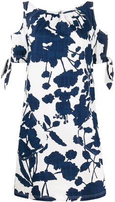 Talbot Runhof Floral Print Cut-Out Dress