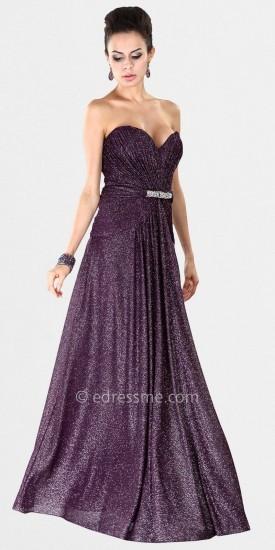 Mignon Pleated Strapless Evening Dresses