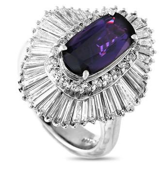 Heritage Platinum 5.82 Ct. Tw. Diamond & Sapphire Ring