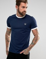 Fred Perry Ringer T-Shirt In Navy