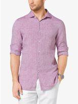 Michael Kors Slim-Fit Chambray Linen Shirt