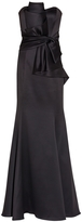 Badgley Mischka Strapless Bow Gown