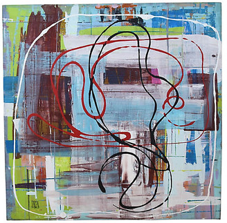 One Kings Lane Vintage Contemporary Abstract by Frank Jensen