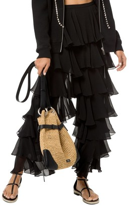 Michael Kors Collection Silk Tiered Ruffle Pant