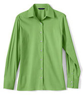 Classic Women's Petite Long Sleeve Stretch Broadcloth Shirt-Pale Emerald
