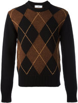 Ami Alexandre Mattiussi argyle pattern crew neck sweater