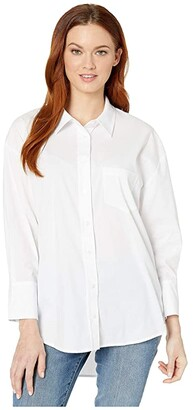 Liverpool Oversized Classic Button-Down (White) Women's Blouse