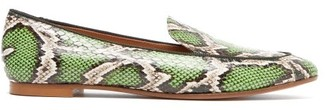 Aquazzura Purist Elaphe Loafers - Green Multi