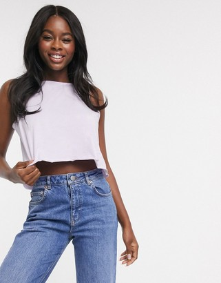 Asos DESIGN crop swing vest in lilac