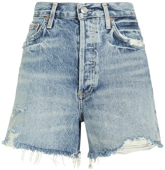 A Gold E Dee Fray Denim Shorts