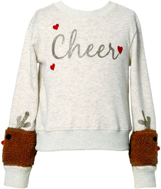 Truly Me Kids' Cheer Reindeer Sweatshirt