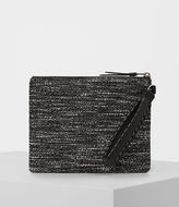 AllSaints Kita Large Tweed Pouch